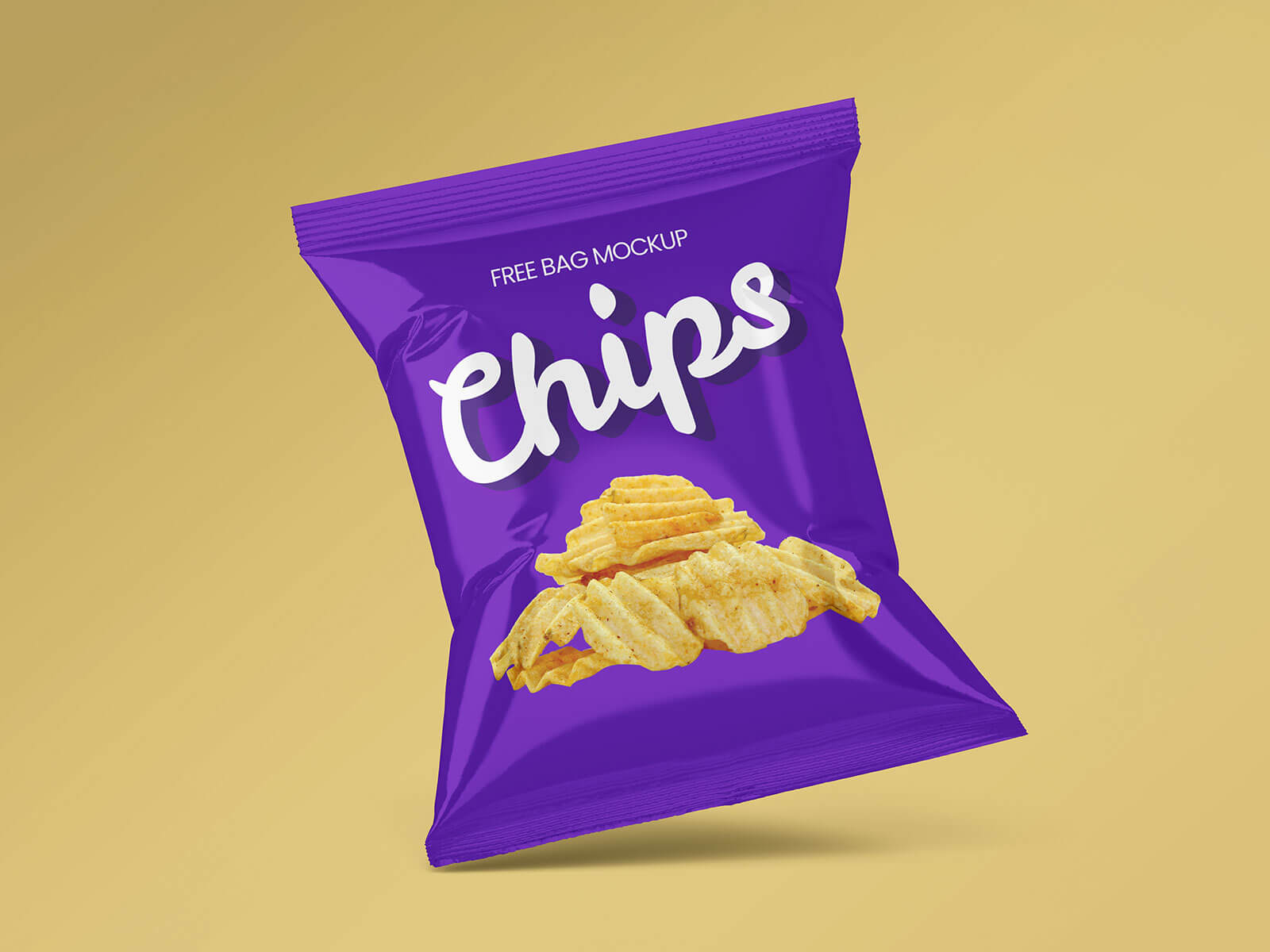 Free Chips Packet Snack Packaging Mockup PSD Set (2)