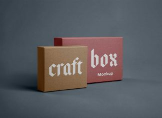 Free-Craft-Paper-Square-&-Rectangle-Box-Packaging-Mockup-PSD-Set