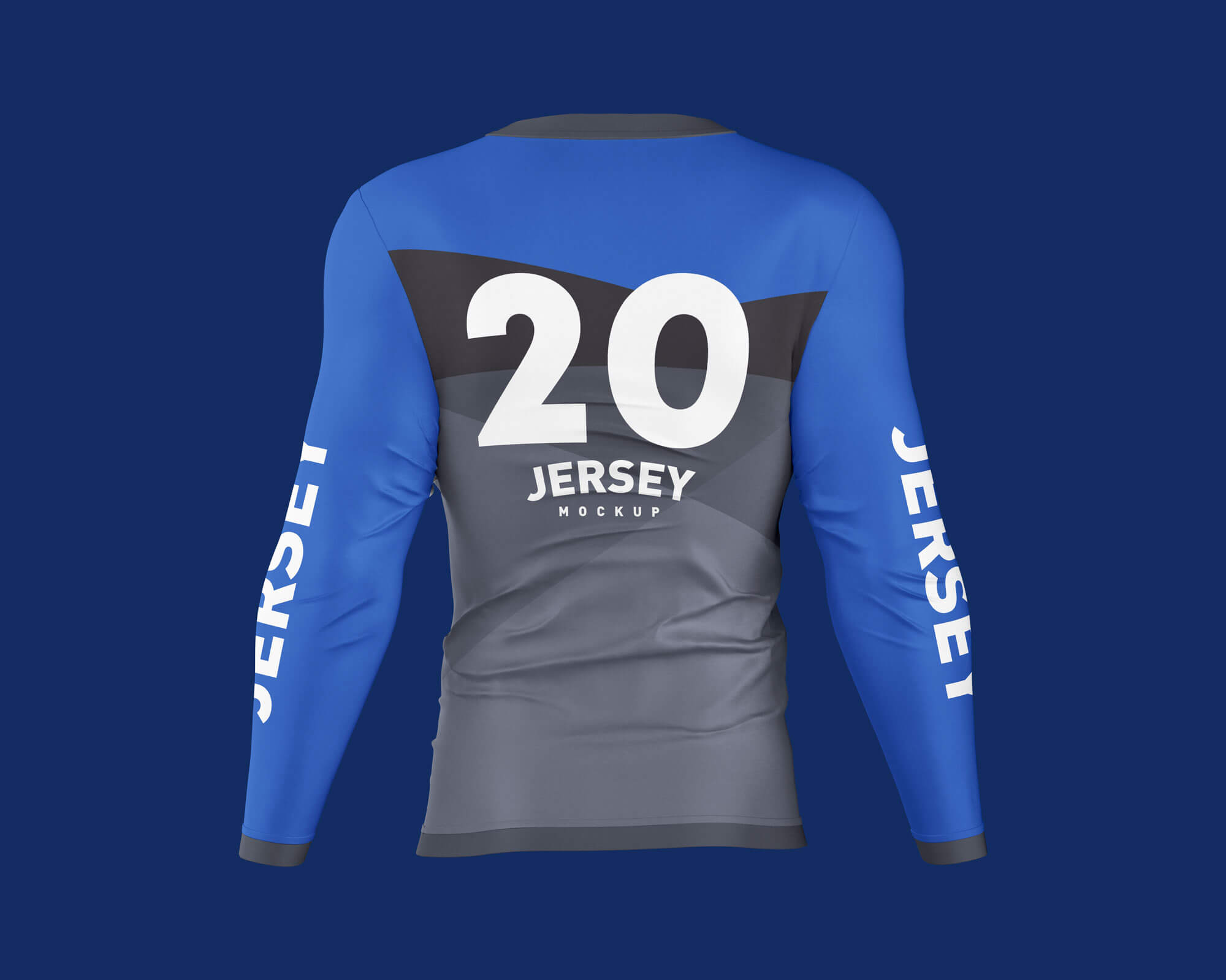 Free Men's Long Sleeve Jersey T-Shirt Mockup PSD Set (2)