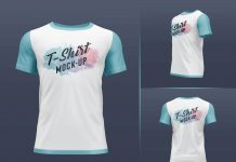 Free-Round-Neck-3D-Rendered-T-Shirt-Mockup-PSD-Set