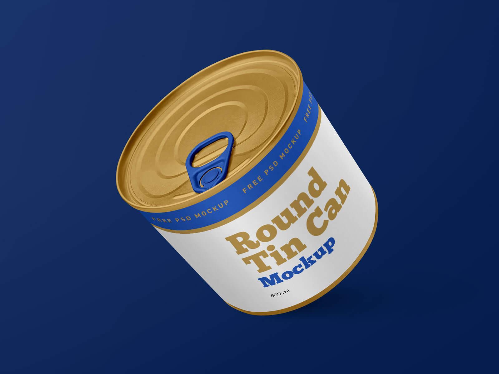 Free Round Tin Food Can Mockup PSD Set (1)