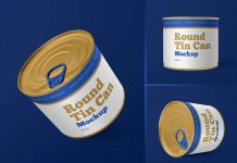 Free Round Tin Food Can Mockup PSD Set (2)