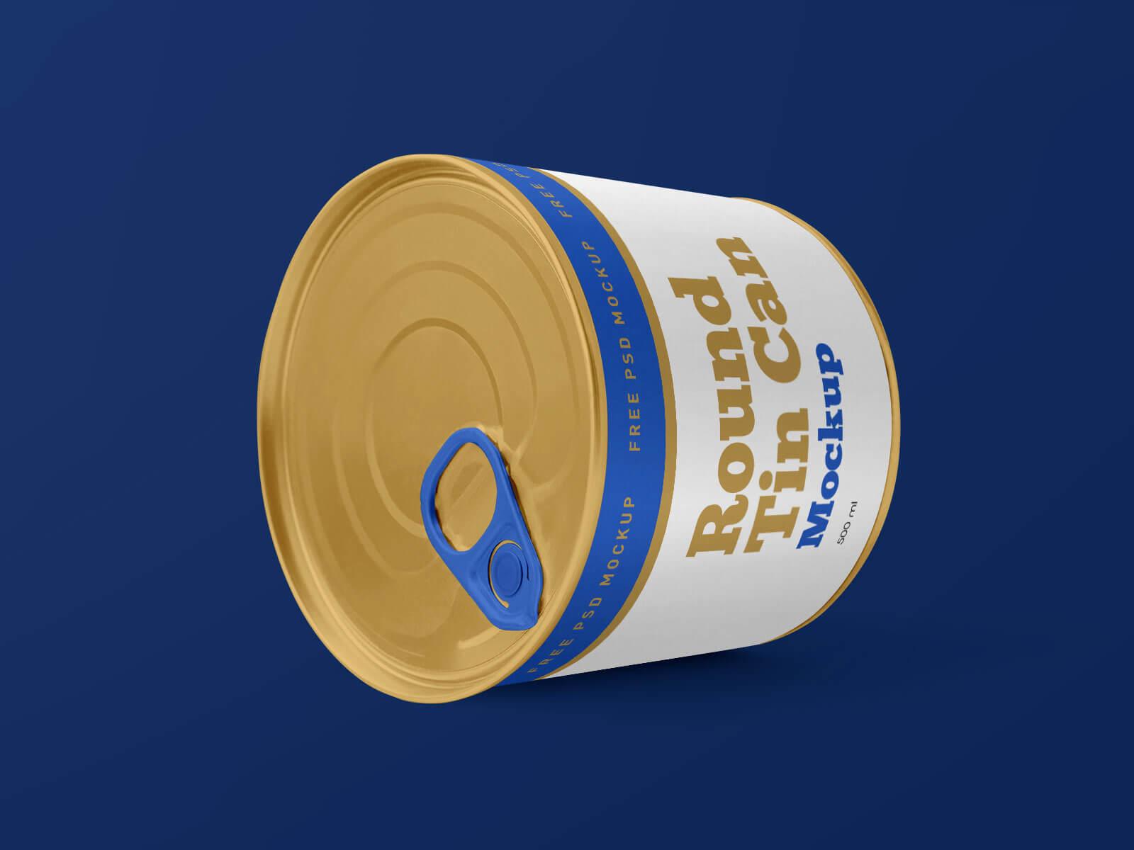 Free Round Tin Food Can Mockup PSD Set (2)