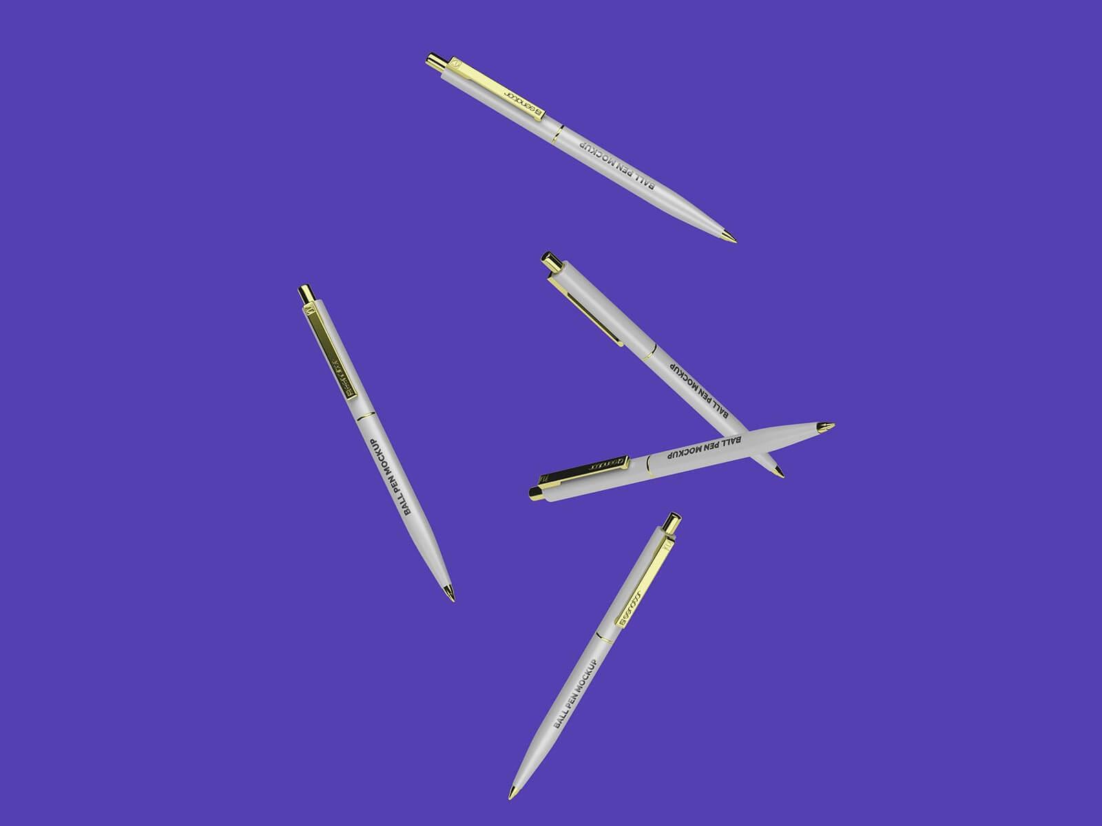 Free Senator Ballpoint Pen Mockup PSD Set (1)