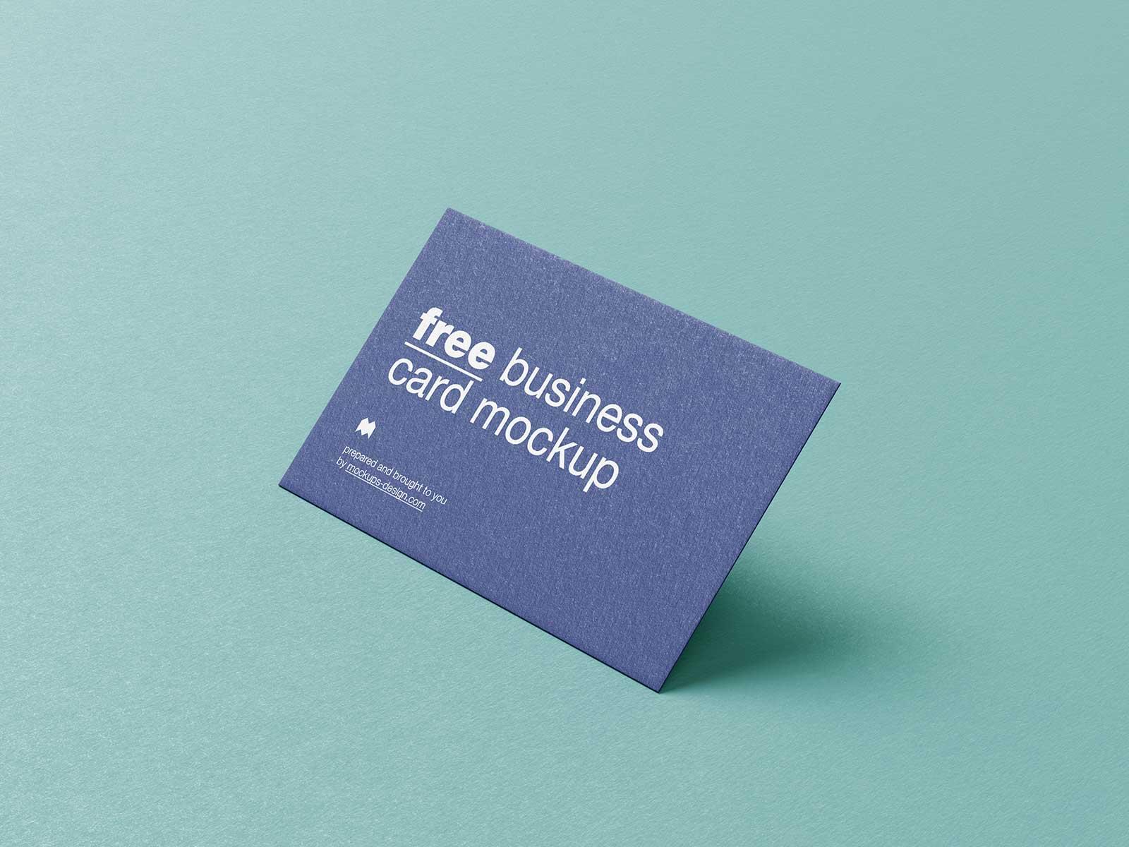 Free Textured Business Card Mockup PSD Set (1)
