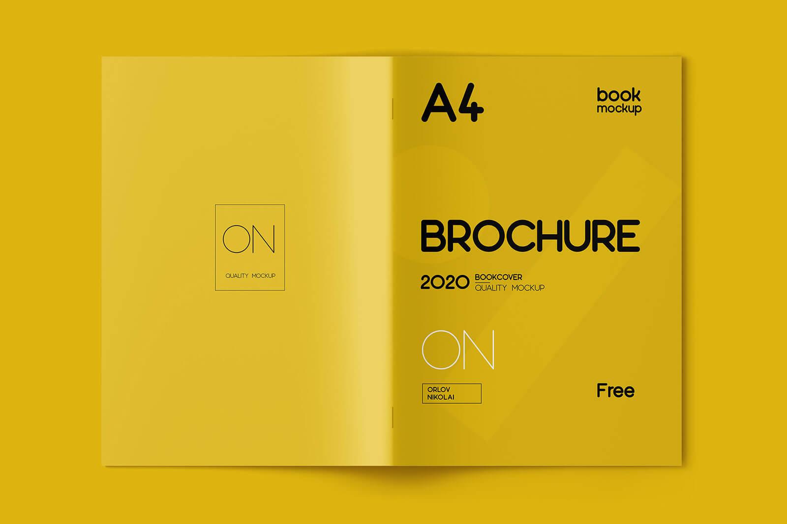 Free A4 Multi-Page Brochure Mockup PSD Set (1)