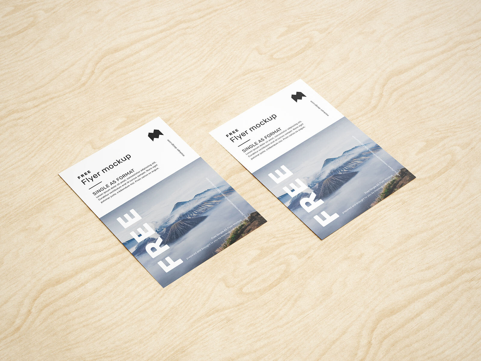 Free A5 Flyer Mockup PSD Set (4 Renders) (2)