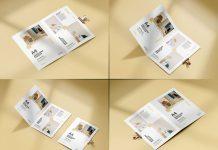 Free Bi-Fold A4 Brochure Mockup PSD Set