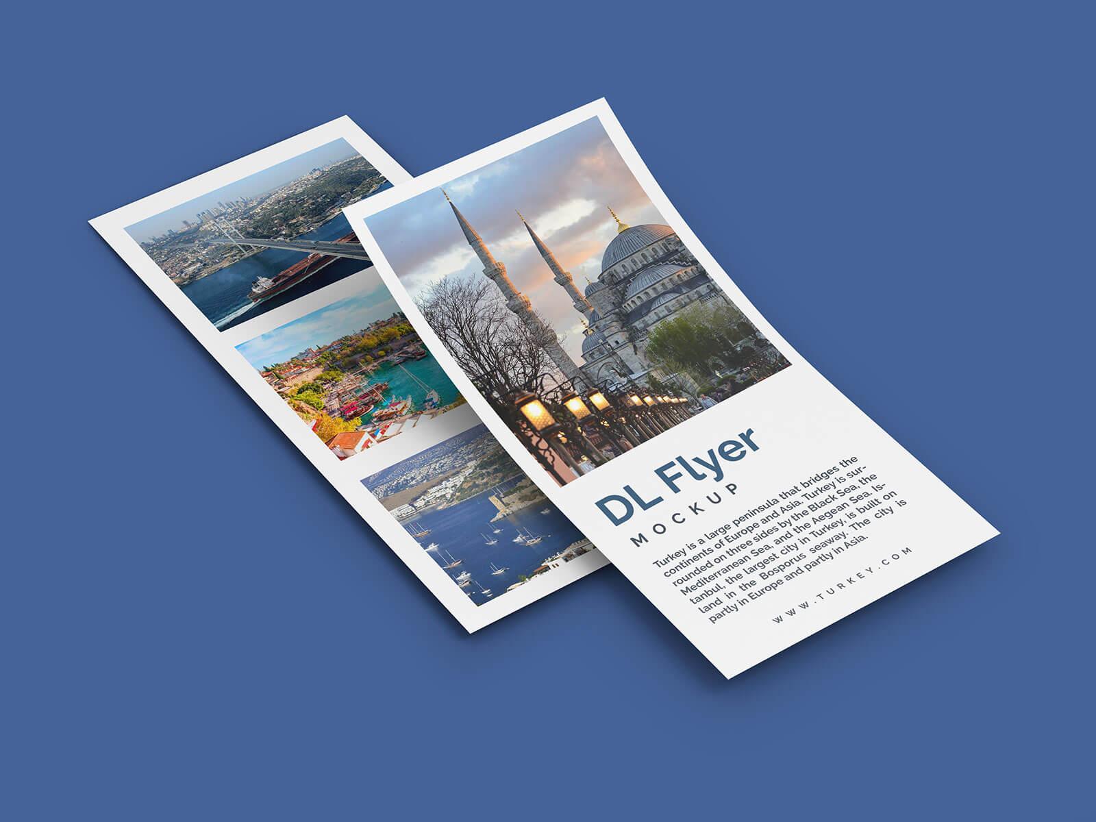Free DL Flyer Leaflet Mockup PSD Set (2)