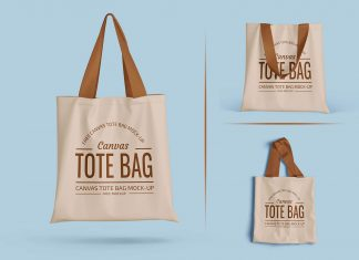 Free Eco Friendly Tote Shopping Bag Mockup PSD Set (4)