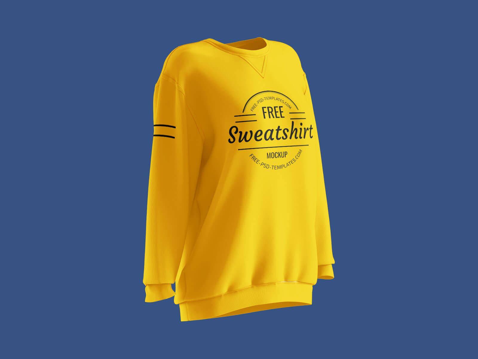 Free Long Sleeves Women's Sweatshirt Mockup PSD Set (2)