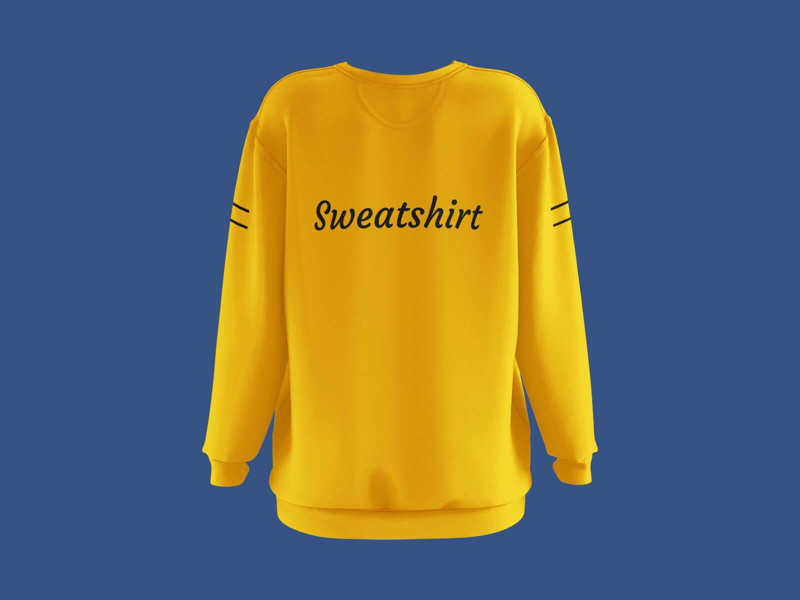 Free Long Sleeves Women's Sweatshirt Mockup PSD Set (3)