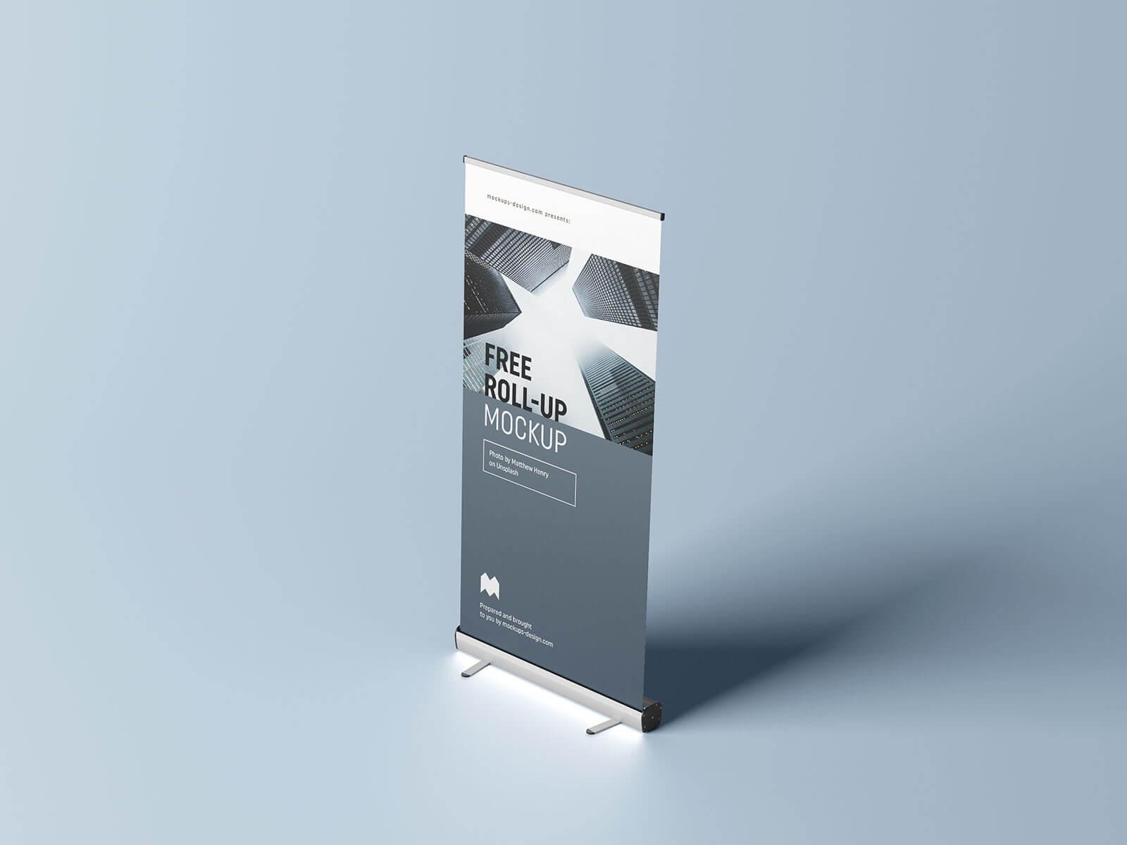 Free Roll Up Banner Mockup PSD Set (3)