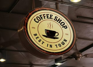 Free-Cafe-Round-Signboard-Mockup-PSD