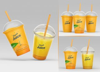 4-Free-Clear-Plastic-Disposable-Juice-Cup-With-Dome-Lid-Mockup-PSD-Set-(5)