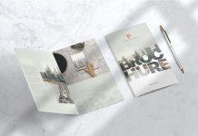 Free Simple Bi-Fold Brochure Mockup PSD