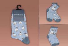 Free Kids Socks Label Mockup PSD Set (1)