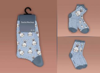 Free Kids Socks Label Mockup PSD Set (1)