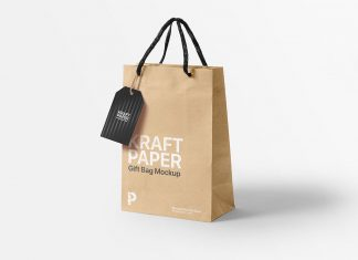 Free-Kraft-Paper-Gift-Shopping-Bag-With-Handing-Tag-Mockup-PSD
