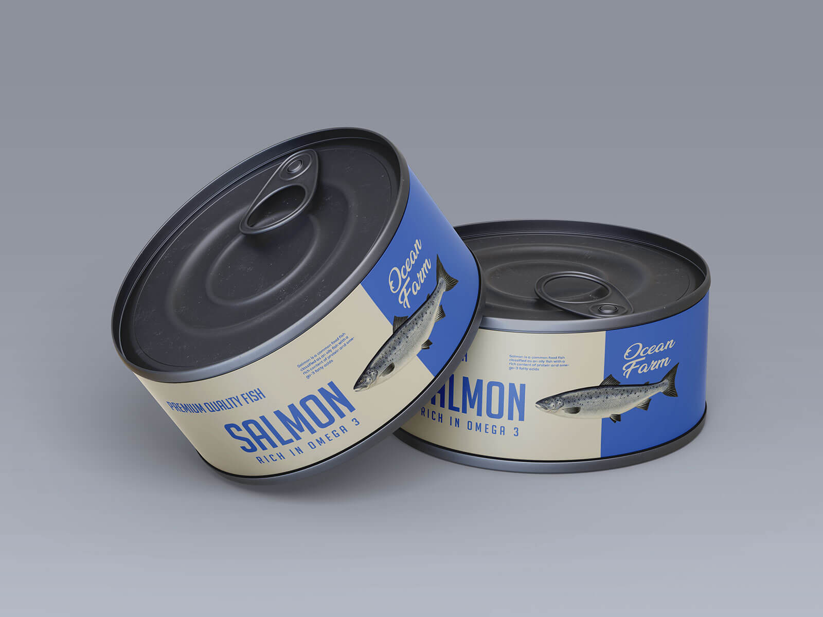 Free Metal Food Tin Container Mockup PSD Set
