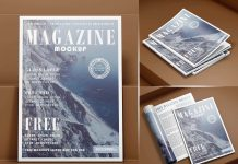 Free Opened & Title Magazine Mockup PSD Set (1)
