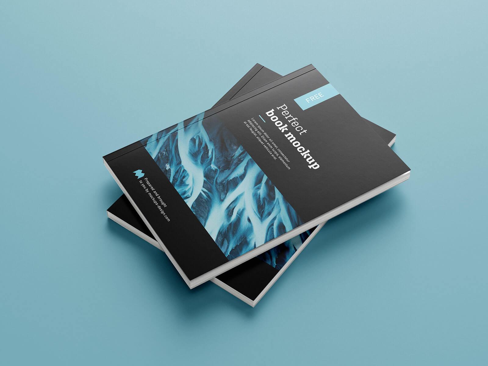 Free Premium Paperback Book Mockup PSD Set