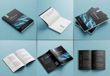 Free Premium Paperback Book Mockup PSD Set (9)
