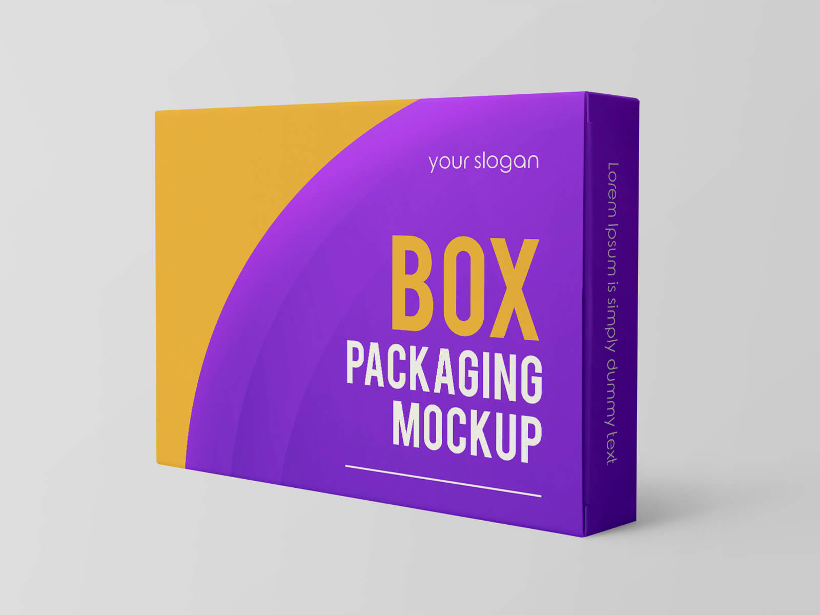 Free Rectangle Box Packaging Mockup PSD Set (1)