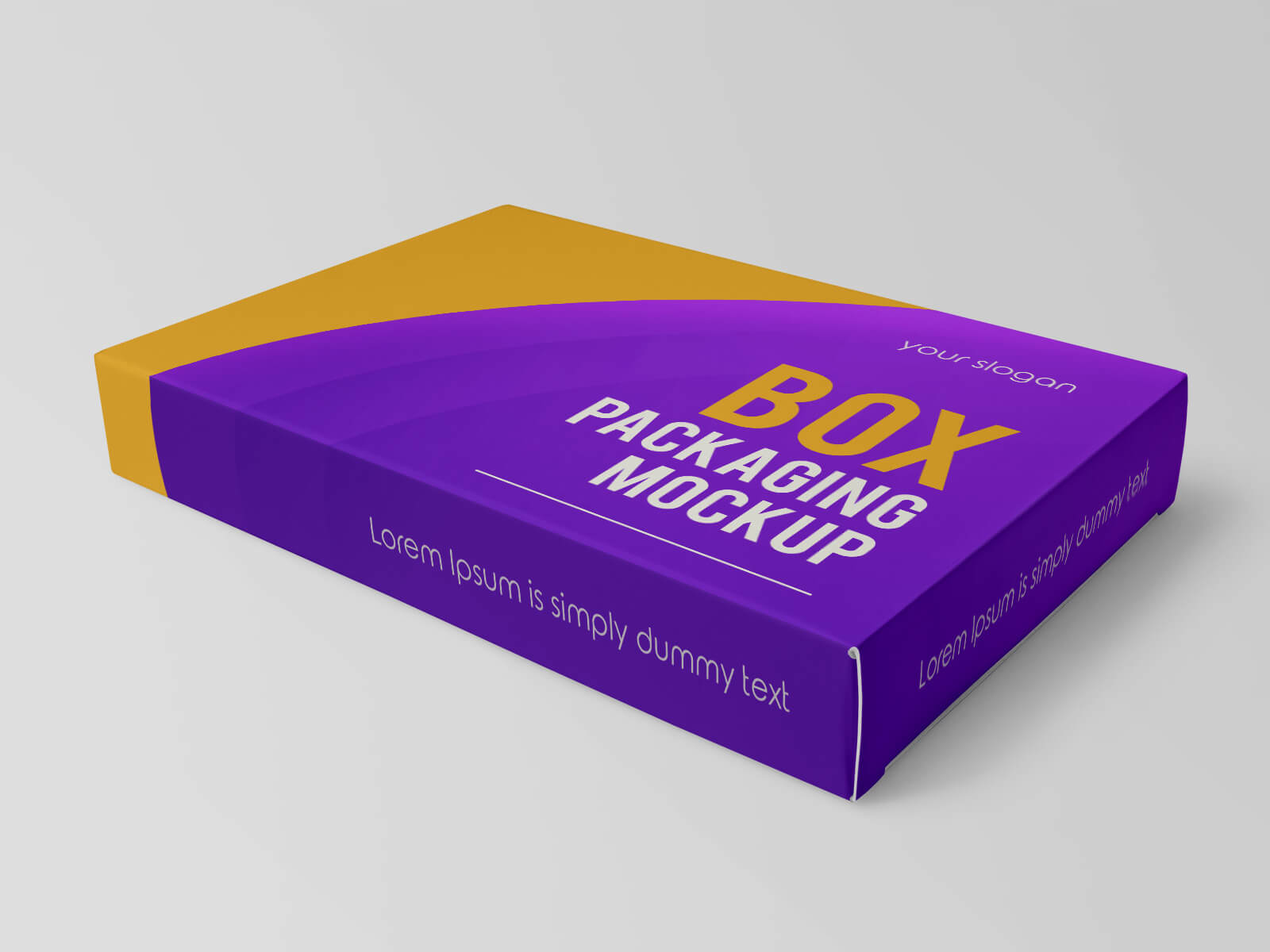 Free Rectangle Box Packaging Mockup PSD Set (3)