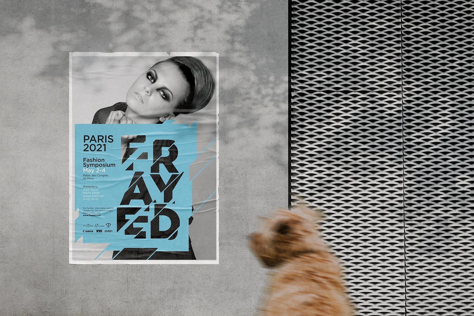 Free-Street-Wall-Glued-Poster-Mockup-PSD
