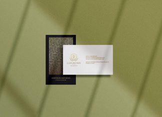 Free Vertical & Horizontal Business Card Mockup PSD Set