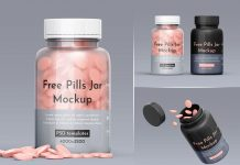 Free Pill Jar / Bottle Container Mockup PSD