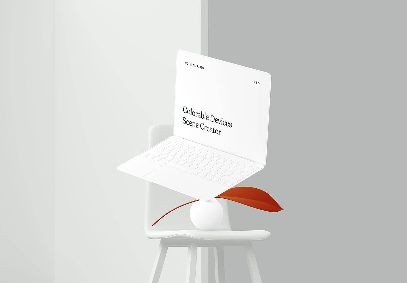 3 Free Colorable Apple Devices Scene Creator Mockup PSD Set