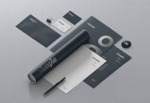 Free Brand Identity Stationery Mockup Scene PSD