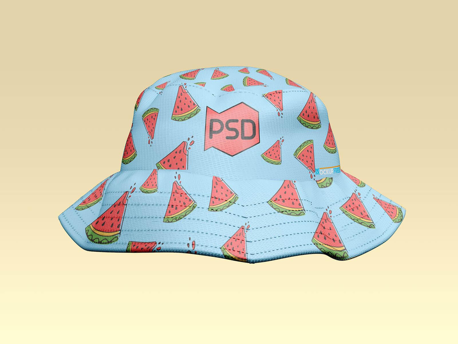 Free Bucket Fishing Hat Mockup PSD Set