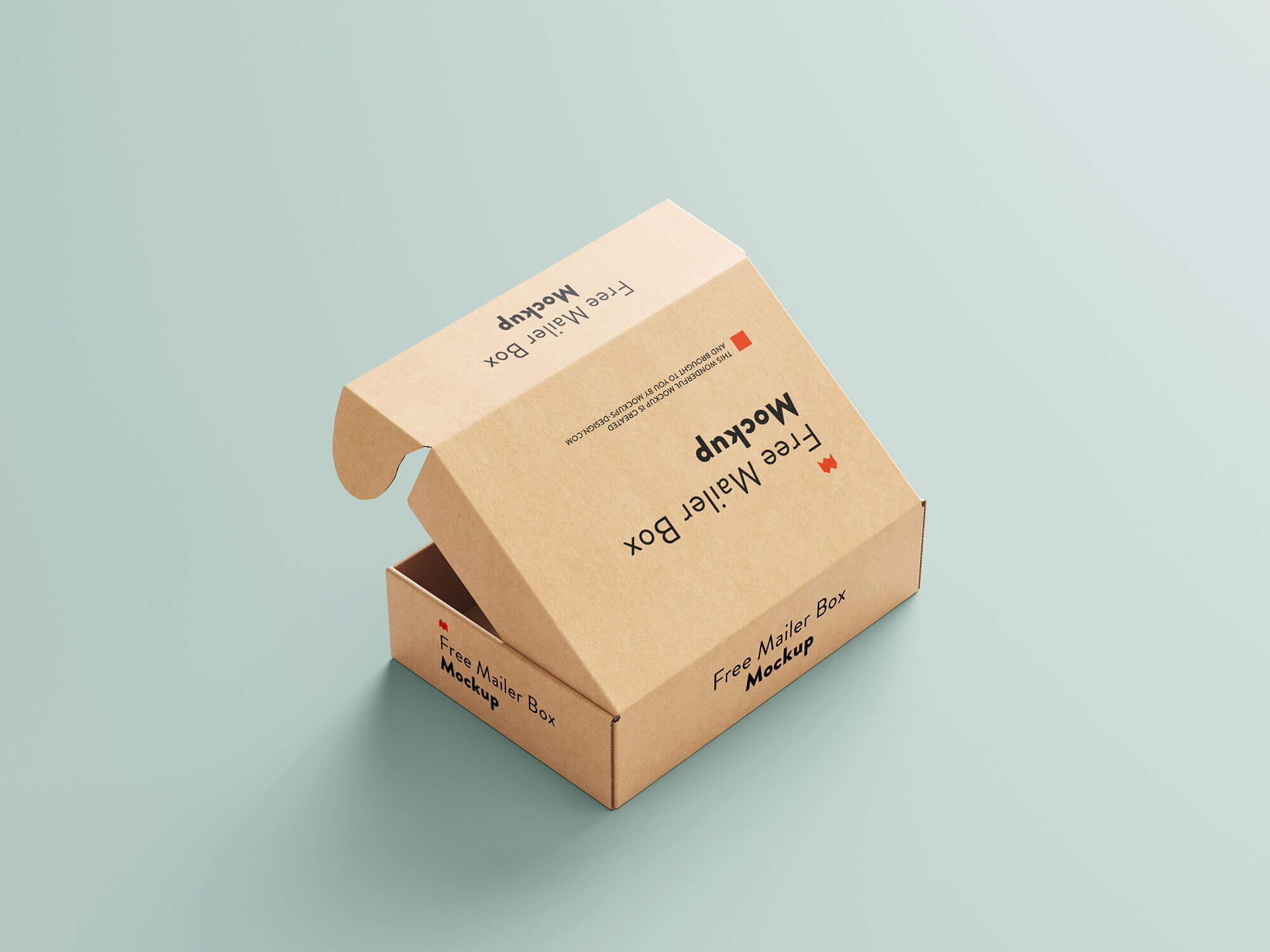 Free Delivery Shipping Mailer Box Mockup PSD Set (1)