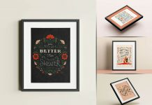 Free Picture Poster Frame Mockup PSD Set