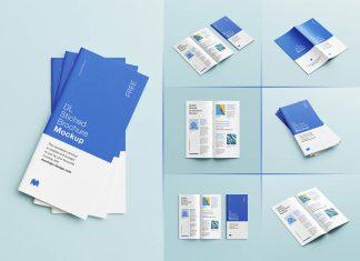 Free Saddle Stitched DL Brochure Mockup PSD Set (8)