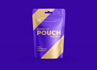 Free Sauce Stand-up Pouch Mockup PSD