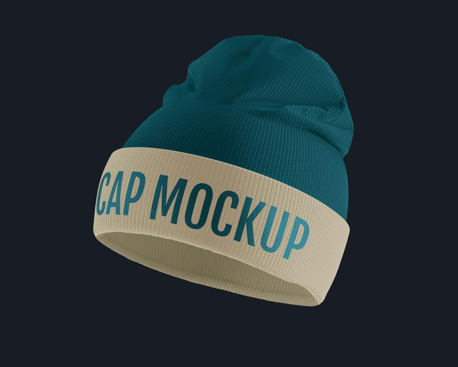 Free Winter Beanie Cap Mockup PSD Set