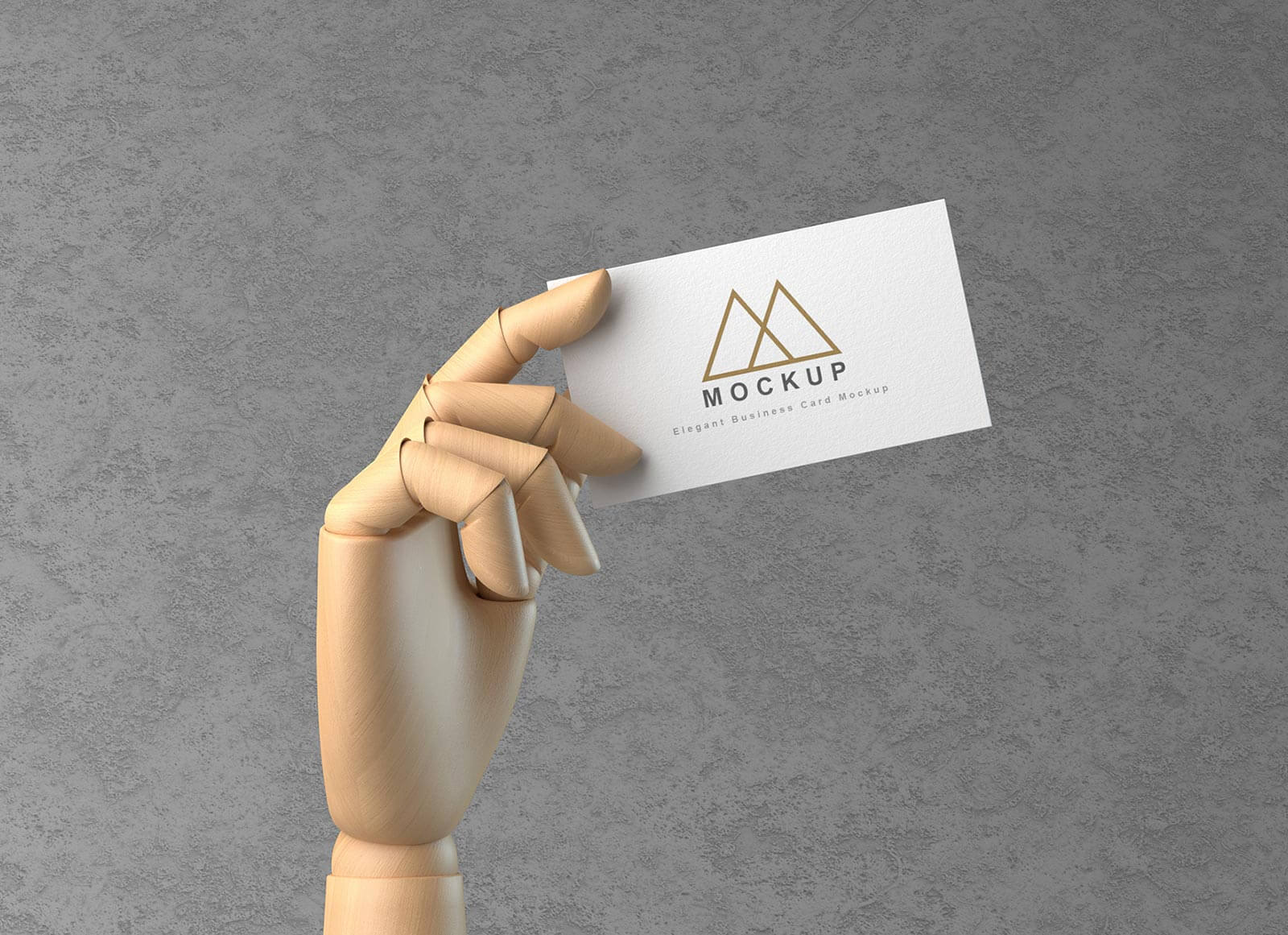 Free-Wooden-Hand-Holding-Business-Card-Mockup-PSD