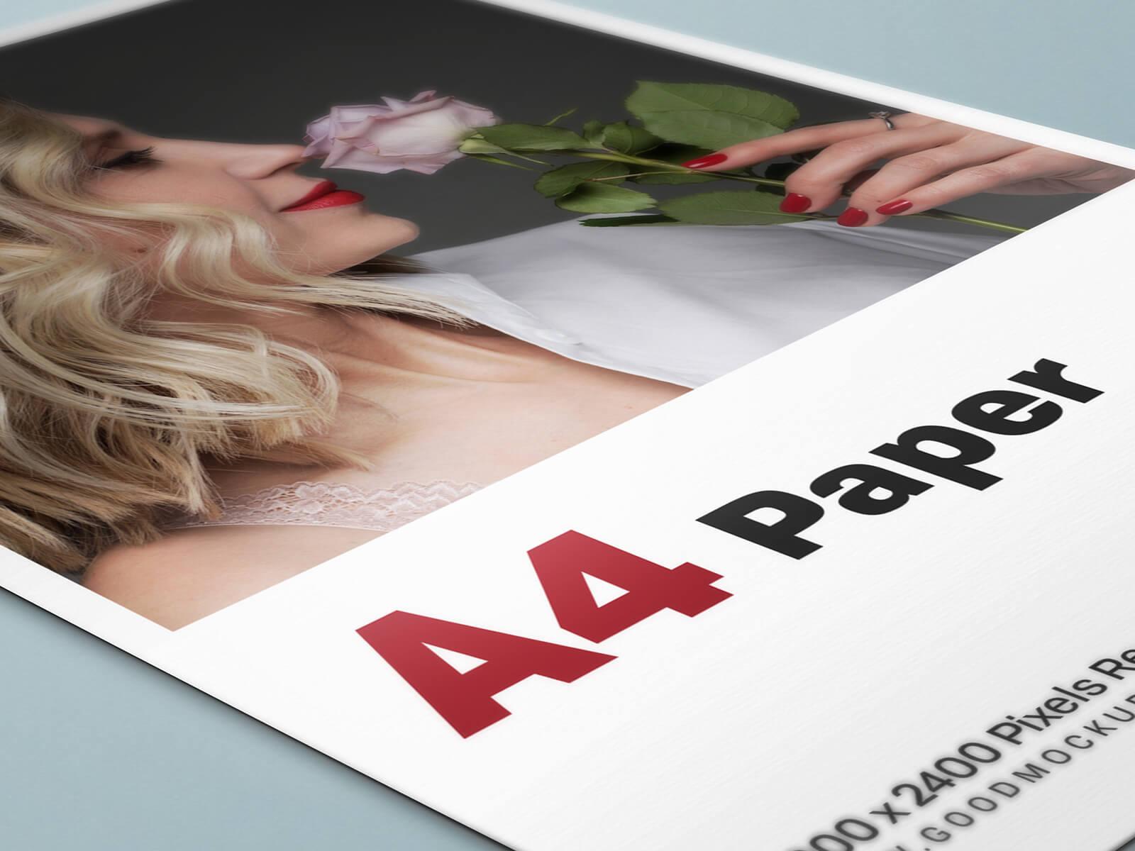 5 Free A4 Paper Flyer Mockup PSD Set