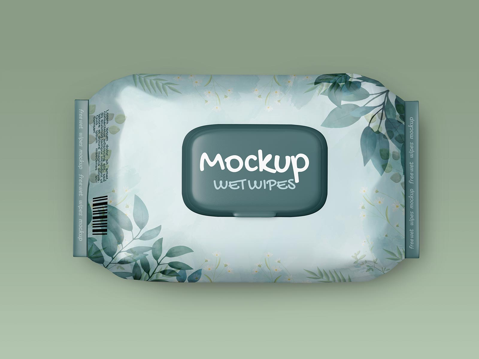 Free Baby Wet Wipes Tissues Mockup PSD Set