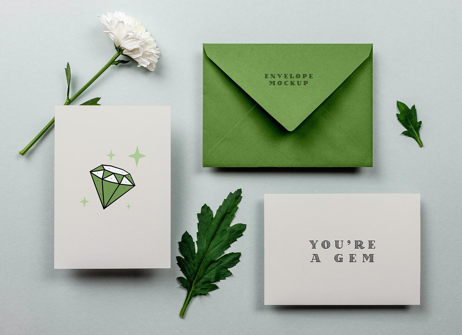 Free-Greeting-Card-&-Envelope-Mockup-PSD