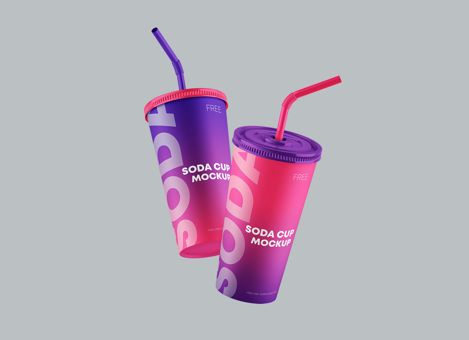 Free Paper Soda Cup Mockup PSD Set (1)