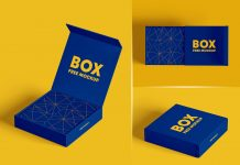 Free Product Box Mockup PSD Set (1)