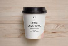 Free Small Paper Coffee Cup Mockup PSD