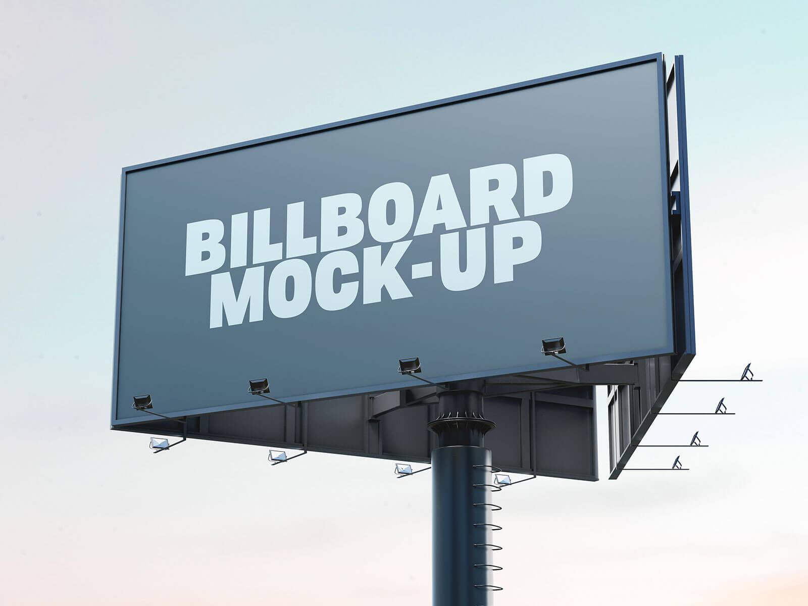 Free Trivision Advertising Billboard Mockup PSD Set (1)
