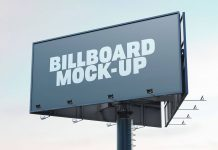 Free Trivision Advertising Billboard Mockup PSD Set (1)