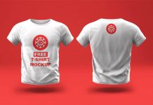 Free-White-Front-&-Back-Tshirt-Mockup-PSD